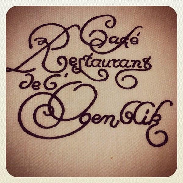 Photo prise au Restaurant de l'Ogenblik par Kris H. le4/19/2012
