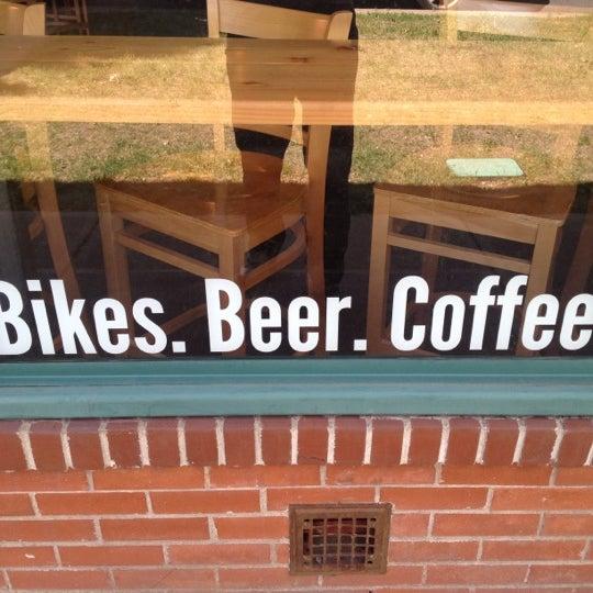 Photo taken at Denver Bicycle Cafe by Tim J. on 5/5/2012