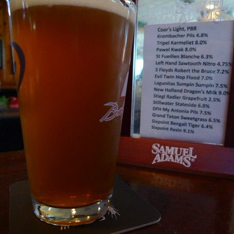 Enjoy a Sixpoint craftbeer on tap. 3=) [Bengali Tiger 6.4% abv]