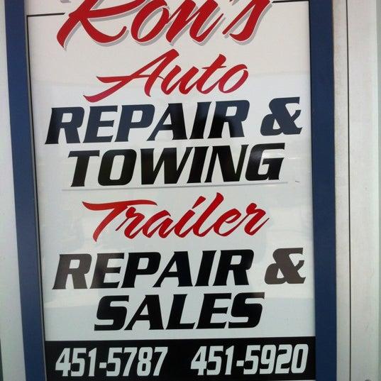 Ron'S Auto Sales >> Photos At Ron S Auto Repair Towing Trailer Repair Sales