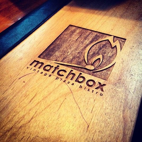 Das Foto wurde bei Matchbox Vintage Pizza Bistro von Lorenzo M. am 3/26/2012 aufgenommen