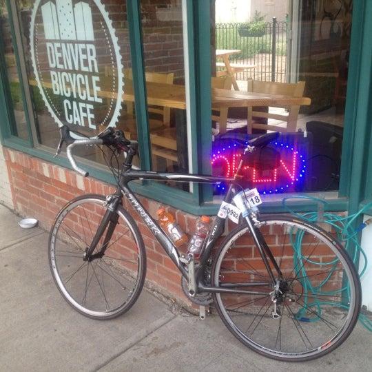 Photo taken at Denver Bicycle Cafe by Tim J. on 7/25/2012