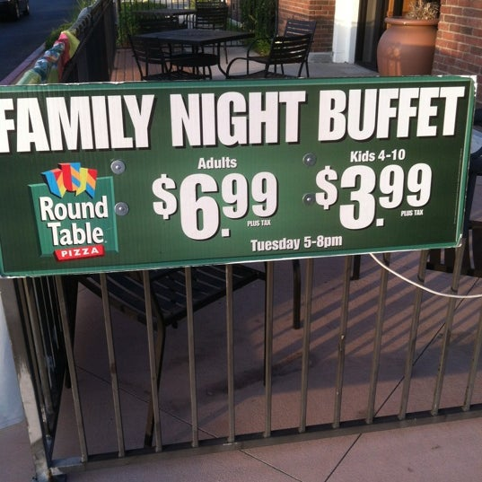 Round Table Family Night Buffet.Round Table Pizza 9 Tips From 234 Visitors