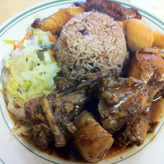 Try the Brown Stew Chicken.