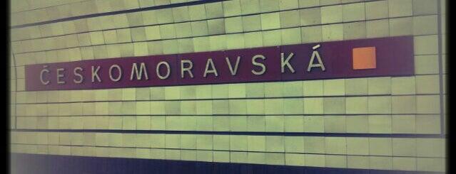 Metro =B= Českomoravská is one of Krzysztof : понравившиеся места.