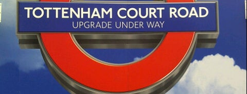 Tottenham Court Road London Underground Station is one of Bars & Clubs & Food.
