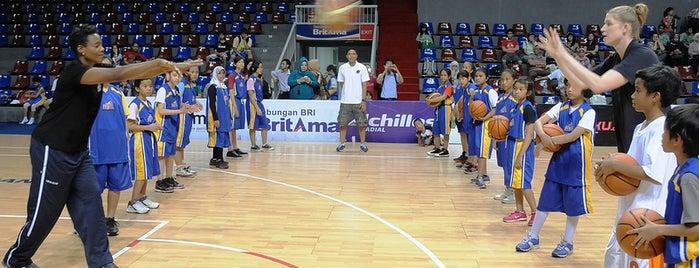 BritAma Arena is one of Duta Olahraga AS berkunjung ke Indonesia.