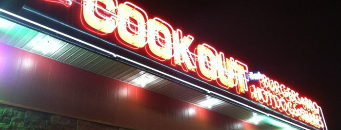 Cook Out is one of Tempat yang Disimpan Taryn.