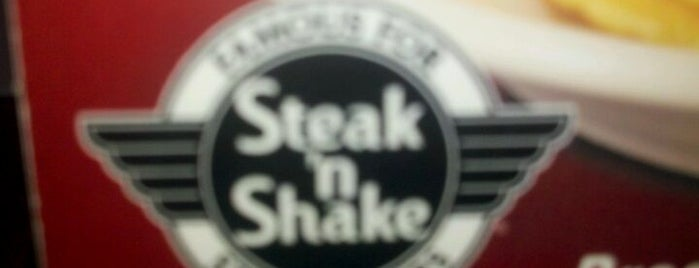 Steak 'n Shake is one of Lugares favoritos de Aaron.