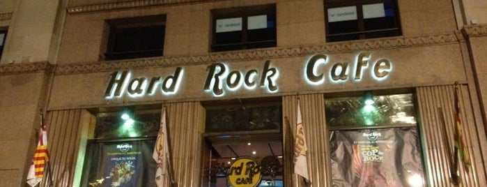 Hard Rock Cafe Barcelona is one of Barcelona must see's.