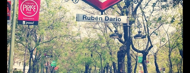 Metro Rubén Darío is one of Madrid.