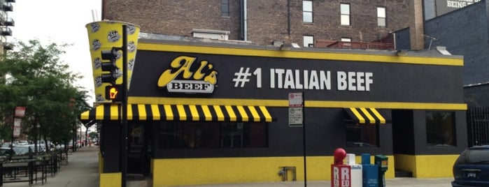 Al's Beef and Catering on Adams is one of Lugares favoritos de Tom.