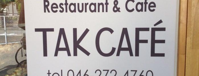 Restaurant&cafe TAK CAFE is one of T'ın Kaydettiği Mekanlar.