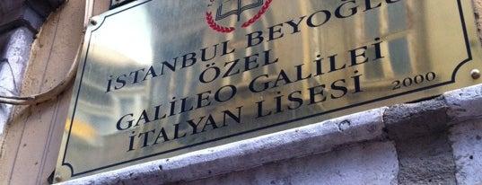 Galileo Galilei İtalyan Lisesi is one of Beyoğlu Liseleri.