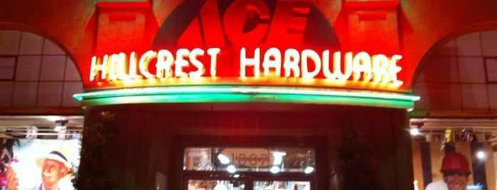 Ace Hillcrest Hardware is one of Favorite Haunts Insane Diego.