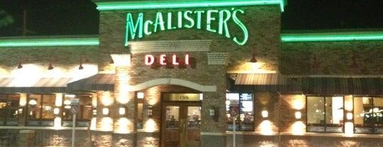 McAlister's Deli is one of monroe, la.