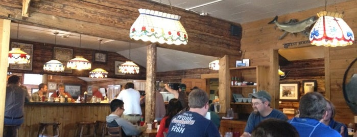 Nora's Fish Creek Inn is one of DIners, Drive-Ins & Dives 5.