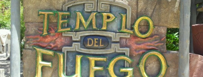 Templo del Fuego is one of PortAventura.