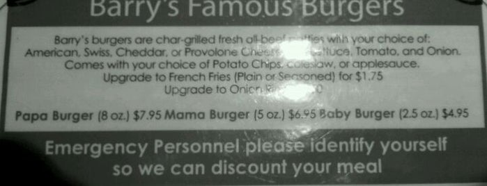 Barry's Cafe is one of The Straight Beef - Burger Truth.