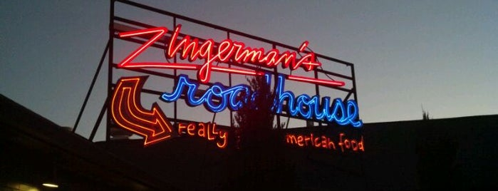 Zingerman's Roadhouse is one of Diners Drive-Ins and Dives & Roadfood.