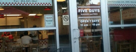 Five Guys is one of ATL Spots.