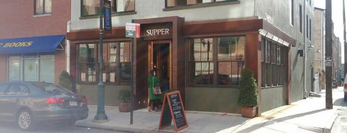 Supper is one of Happy Hours with Food on South Street.