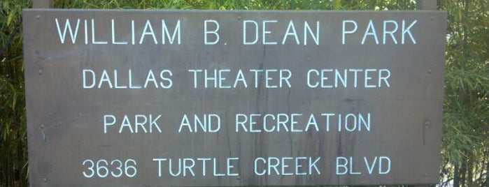 William B. Dean Park is one of Dallas Parks.