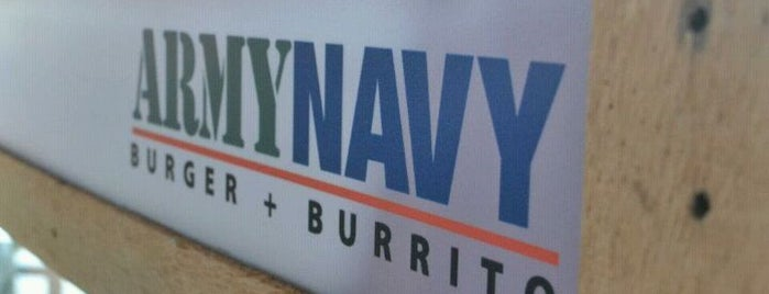 Army Navy Burger + Burrito is one of Le Figgy's Food Adventures.