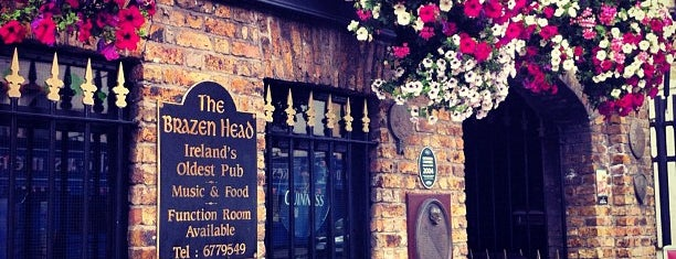 The Brazen Head is one of Dublin Literary Pub Crawl.
