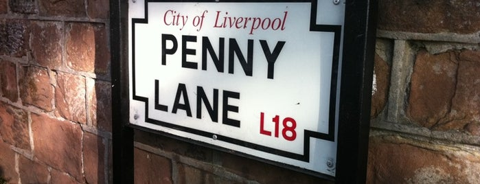 Penny Lane is one of Liverpool.