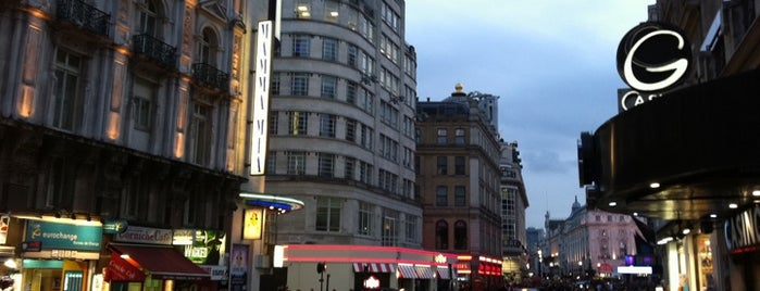Leicester Square is one of London.