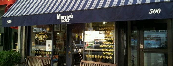 Murray's Bagels is one of NYC food.