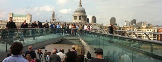 Millennium Bridge is one of London.