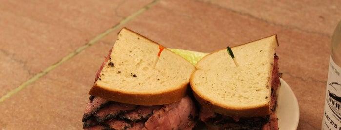 Katz's Delicatessen is one of Best Sandwiches.