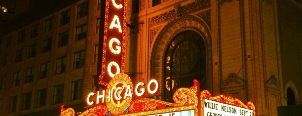 The Chicago Theatre is one of Chicago (Never been).