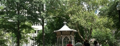 Rittenhouse Square is one of Aaron's Philly Birthday Weekend.