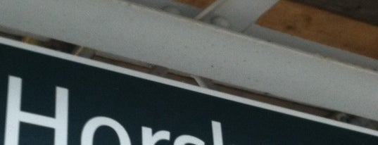 Horsham Railway Station (HRH) is one of You calling me a train spotter?.