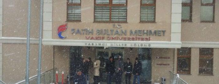 Fatih Sultan Mehmet Vakıf Üniversitesi is one of İstanbul'daki Üniversite ve MYO'ların Kampüsleri.