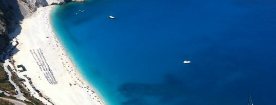 Myrtos Beach is one of Kefalonia.