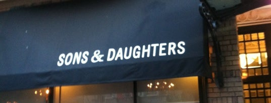 Sons & Daughters is one of Bay Area Foodie Bucket List.