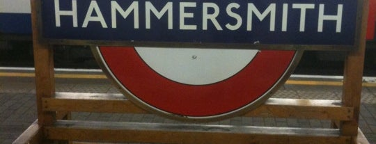Hammersmith London Underground Station (District and Piccadilly lines) is one of England.