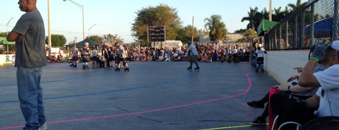 """Miami' Vice City Rollers """"Roll Cage"""" Roller Derby rink is one of Miami 2013."""