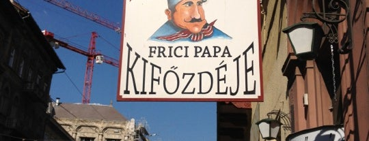 Frici Papa Kifőzdéje is one of Best of Budapest.