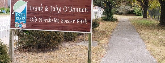O'Bannon Old Northside Soccer  Park is one of Tempat yang Disukai David.