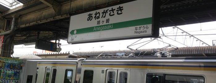 Anegasaki Station is one of JR 키타칸토지방역 (JR 北関東地方の駅).