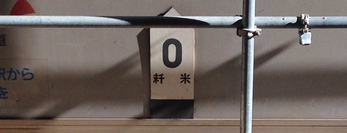 中央線 0kmポスト(2番線) is one of 東京駅0kmポスト.