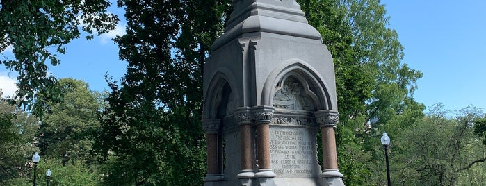 Ether monument @ the public garden is one of Todo - Not Food or Drink.