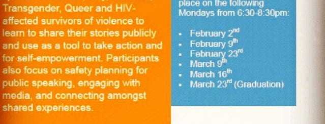 The Anti-Violence Project is one of Nonprofits I Love.