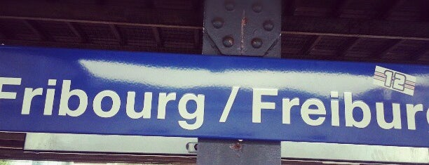 Gare de Fribourg / Bahnhof Freiburg is one of Vangelisさんのお気に入りスポット.