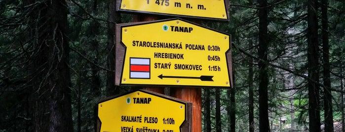 Rázcestie pri Zamkovského chate (1475 m n. m.) is one of Turistické body v TANAP-e.